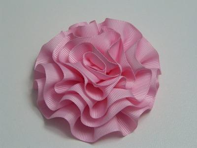 Diy  Rosas o flores de listón para decoración de accesorios para el cabello.