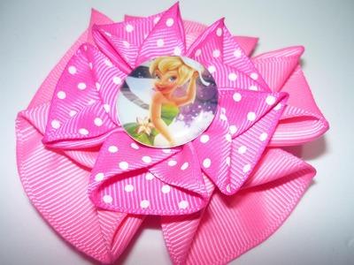 Elabora flores diferentes diseños en cinta gros o raso para accesorios de niñas  No.094