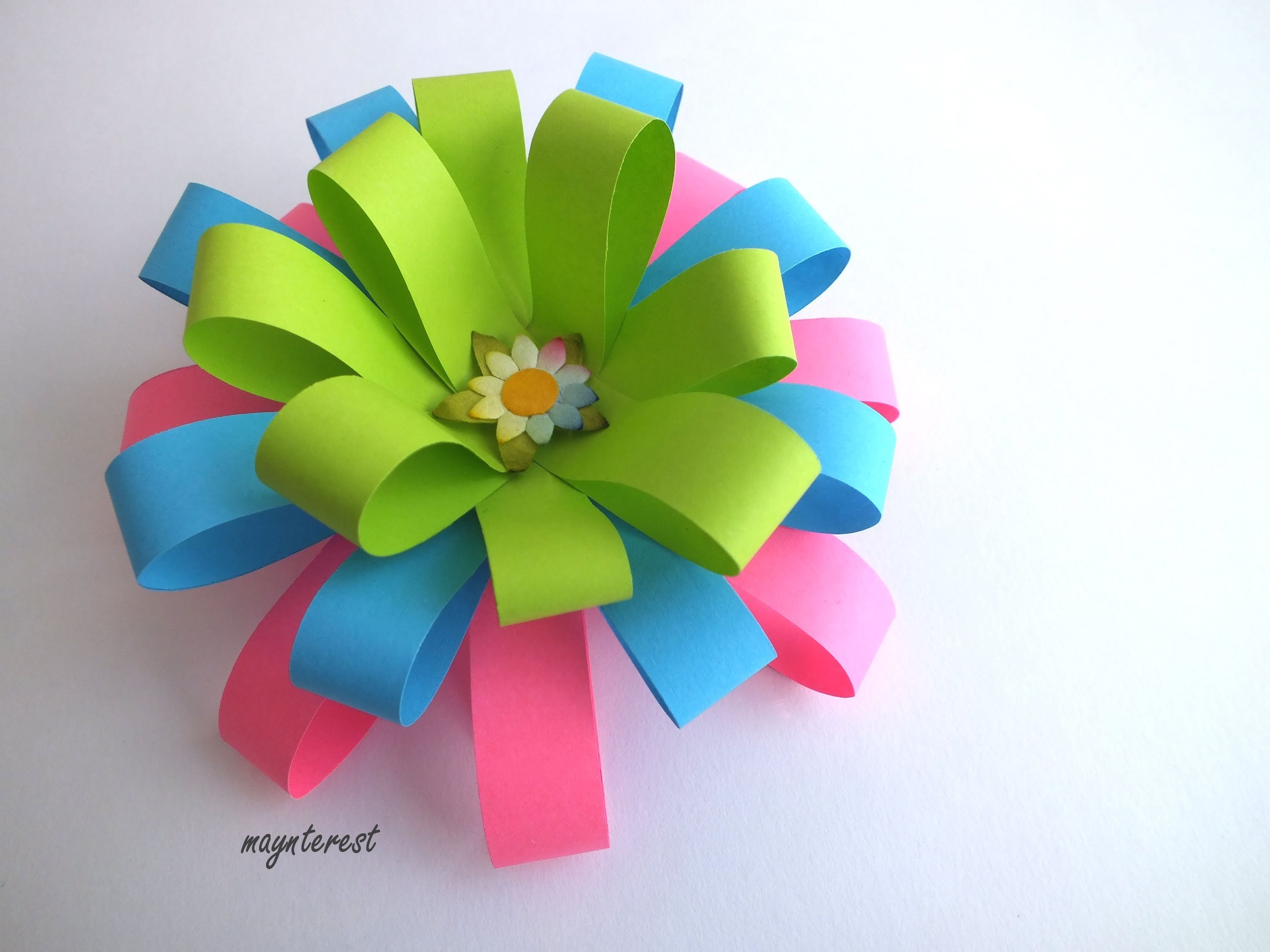 FLOR DE PAPEL DECORATIVA | DECORATIVE PAPER FLOWER | MANUALIDADES