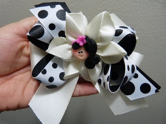 Flores y moños en cinta para decorar accesorios para el cabello paso a paso. Manualidadeslahormiga