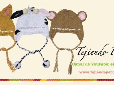Gorros con orejas de animalitos para bebes y niños