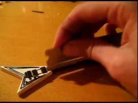 Guitarfimo - White Jackson guitar Tutorial Polymer Clay