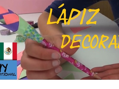 LÁPIZ DECORADO CON UNA FLOR DE PAPEL - TUTORIAL DIY