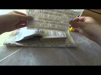 Manualidades con papel de periodico facil y barato