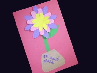Manualidades faciles de papel: Tarjeta Primaveral para regalar