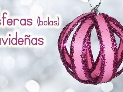 Manualidades para Navidad: ESFERAS NAVIDEÑAS (BOLAS) de material reciclado - Innova Manualidades