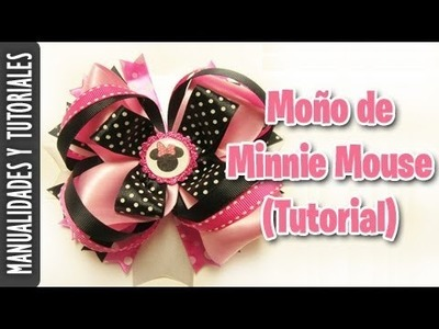Moño de Minnie Mouse (Tutorial Paso a Paso)