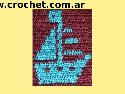 Motivo N° 13 en tejido crochet tutorial paso a paso.