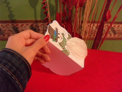 NAVIDAD||Tarjeta 3D Muñeco de nieve