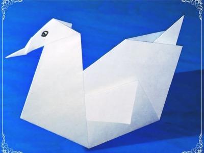Origami- como hacer un cisne de papel- manualidades fáciles  - papiroflexia