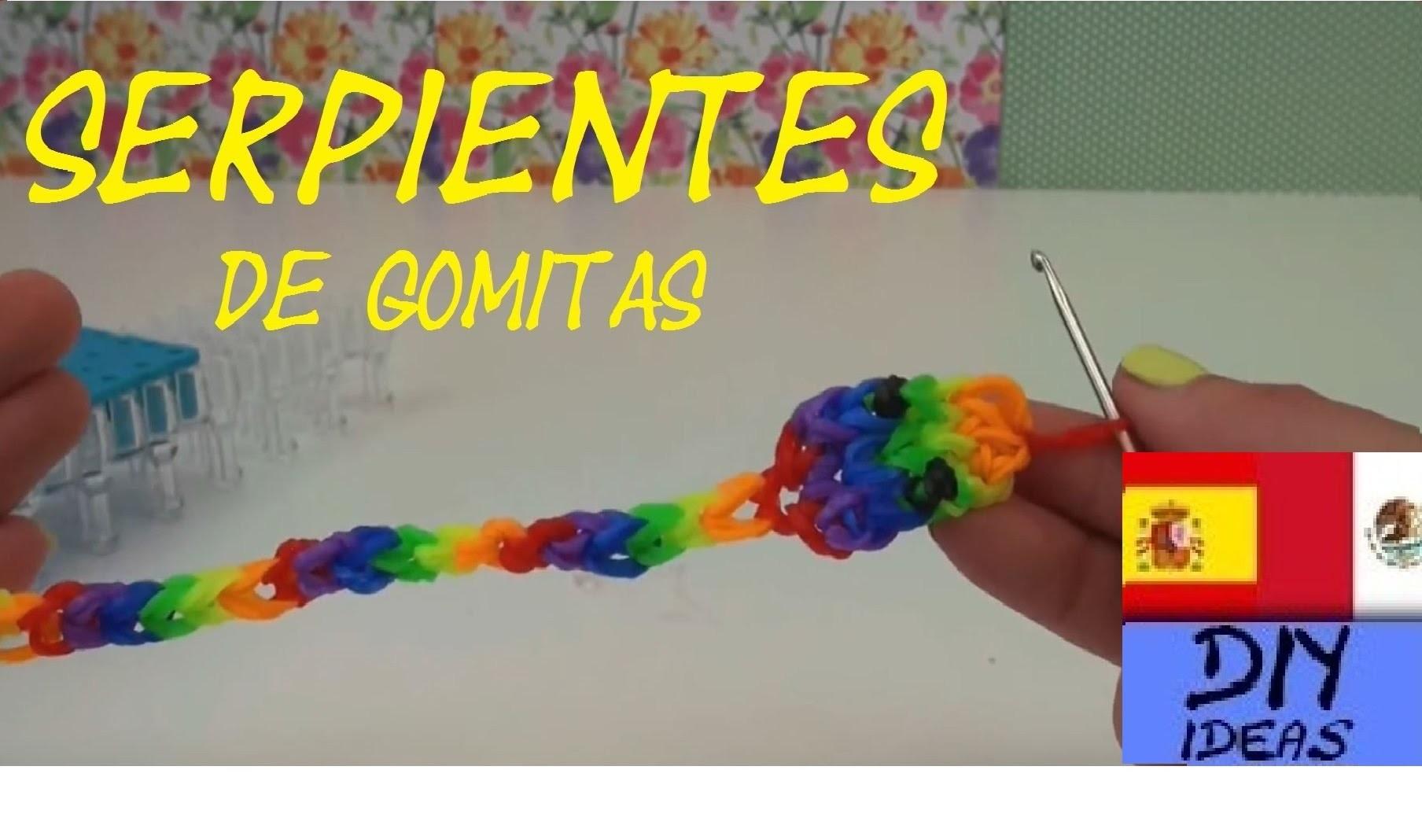 SERPIENTE DE GOMITAS - RATTLE SNAKES  CHARM - CON TELAR - TUTORIAL EN ESPAÑOL - DIY