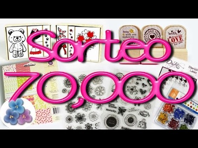 Sorteo Scrapbook Internacional Give Away 70,000 suscriptores Pintura Facil
