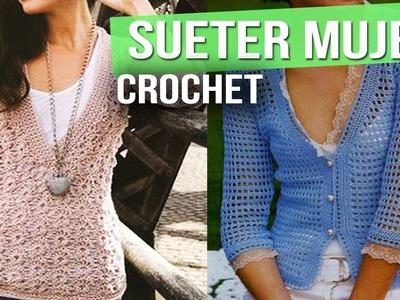 Sueter o Sweater Mujer - Tejidos a Crochet ( diseños e ideas )