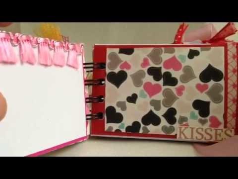 Toilet paper roll mini album Valentines DAy