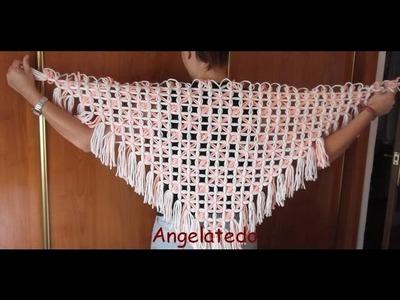 Toquilla  de lana artesana fácil de hacer con bastidor triangular.