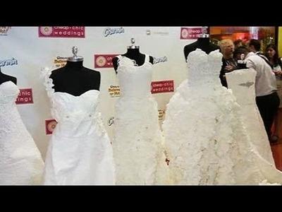 Trajes de novia de papel higiénico