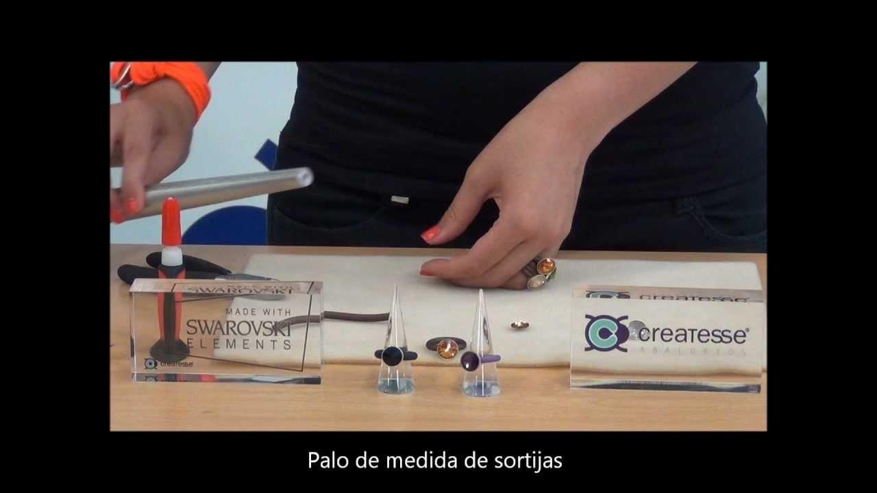 TUTORIAL DIY: Como se hace una sortija de caucho hueco y rivoli de Swarovski