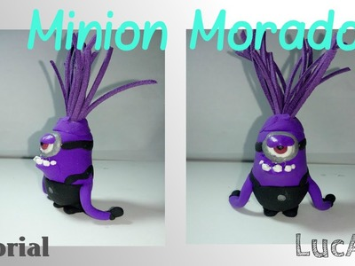 Tutorial minion morado con plastilina-porcelana fría. Evil purple minion Polymer clay Tutorial