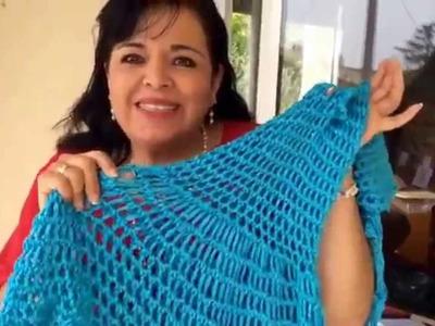 Vestido de Playa - Tejido con dedos - Tejiendo con Laura Cepeda