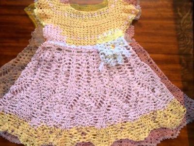 Vestidos de corte imperio tejidos a crochet