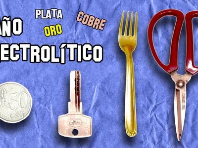 Baño Electrolítico de Oro, Plata, Cobre | Electrolytic bath Gold, Silver, Copper