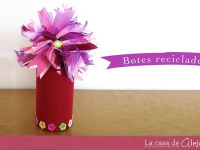 Botes reciclado - DIY recycle cans
