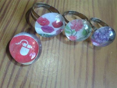 Como hacer anillos personalizados.exclusivos con revista y gemas. DIY