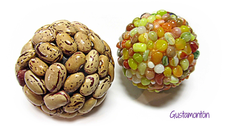 Como hacer bolas decoradas. Decorated balls.