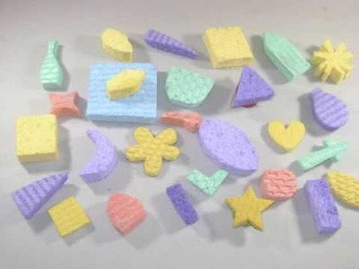 Cómo hacer Sellos o estampas de esponja con reciclados