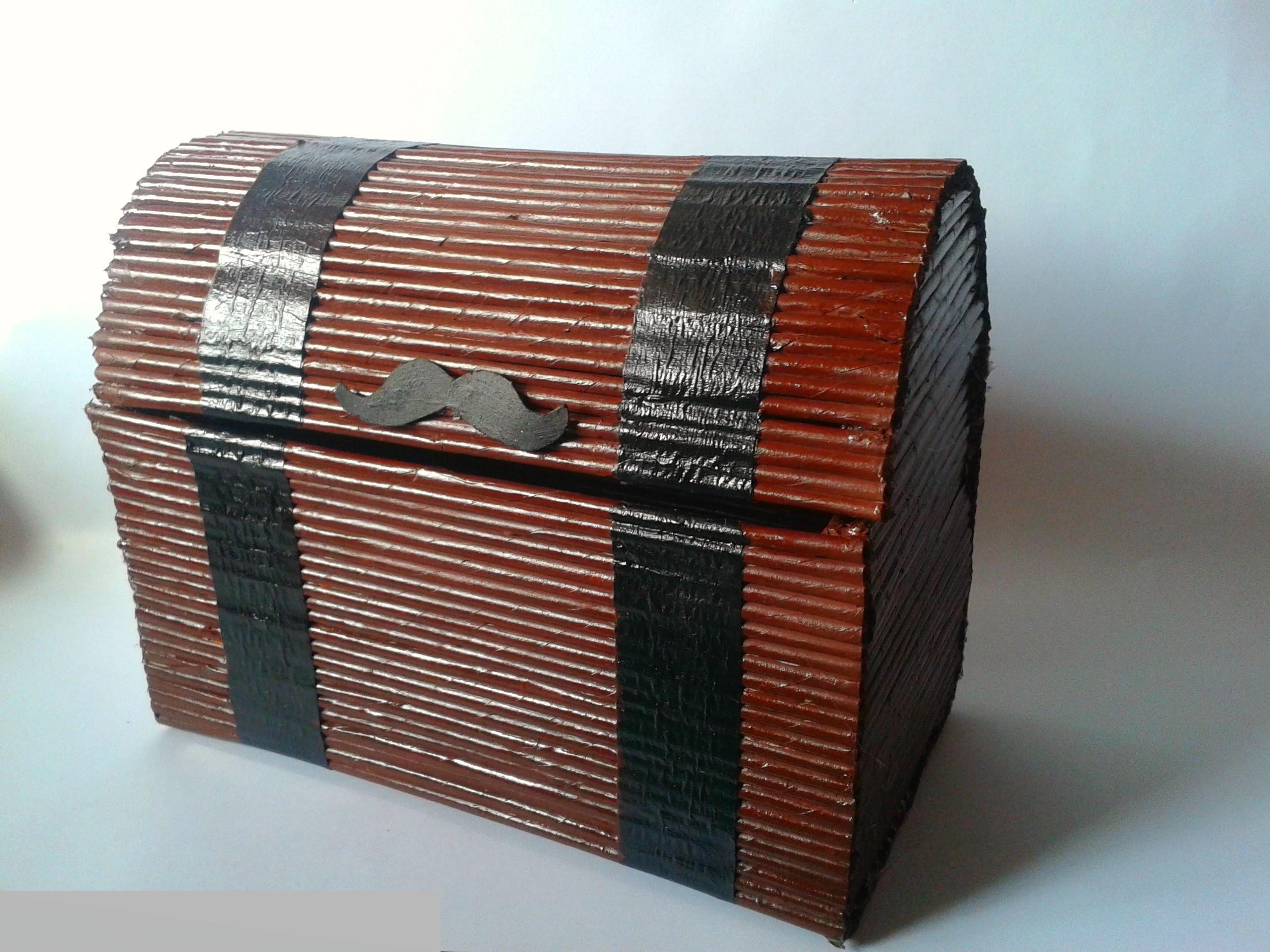 Como hacer un COFRE con periódico | Manualidades Ani Crafts