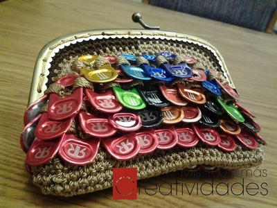 Como hacer un monedero con anillas de Monster o Redbull part 1