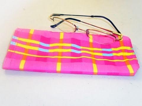 Cómo hacer una bolsa para lentes o espejuelos
