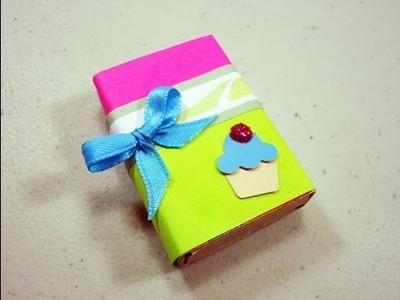 Como hacer una cajita para regalar con una caja de cerillos