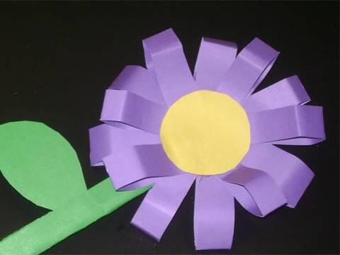 Como hacer una flor en 3D con cartulina o papel de construcción