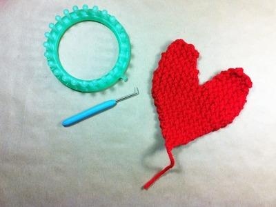 Cómo tejer un corazón de lana con telar circular