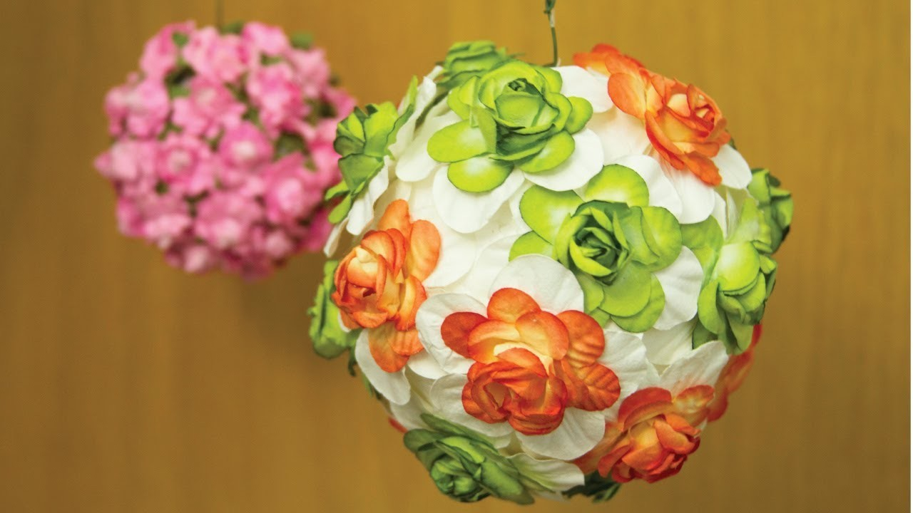 Decora tu habitación con Flores (flower lamp) | Craftingeek*
