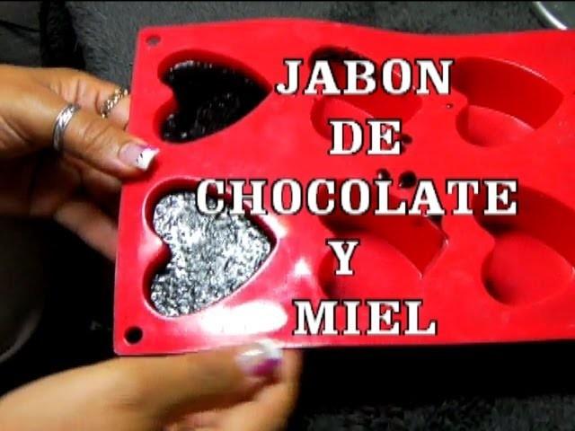 DIY  JABON DE CHOCOLATE Y MIEL CON GLICERINA NATURAL