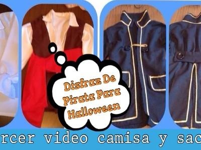 Elaborando Disfraz De Halloween 3era. Parte (( Disfraz De Pirata )) - Camisa y Saco -