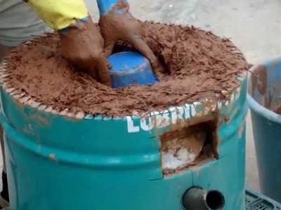 Fabricación de horno ecológico para cerámica- parte 4