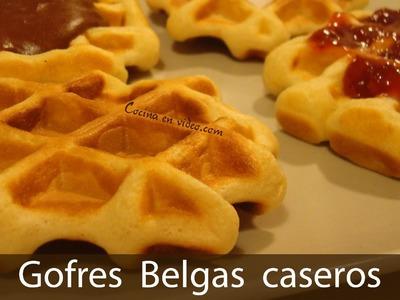 Gofres belgas caseros - Belgian Waffles, #175 - Cocina en video.com
