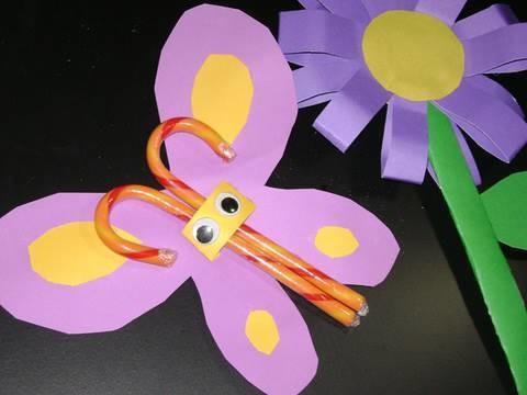 Manualidades de papel:  Dulce Mariposa de papel