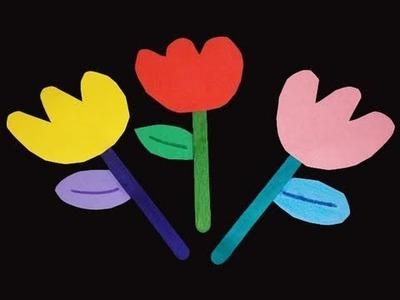 Manualidades de papel: Tulipanes para kinder