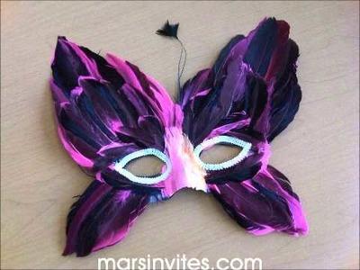 Mascaras de plumas para fiesta