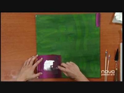 Nuria Sánchez nos enseña a ìntar un cuadro en relieve