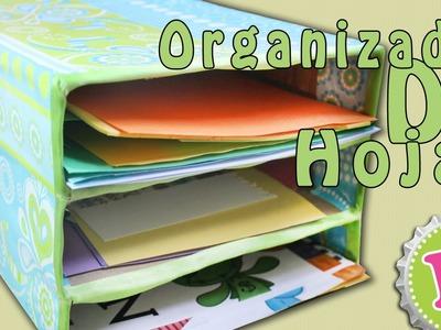 Organizador de HOJAS con cajas de CEREAL (reforzada) - floritere - 2014