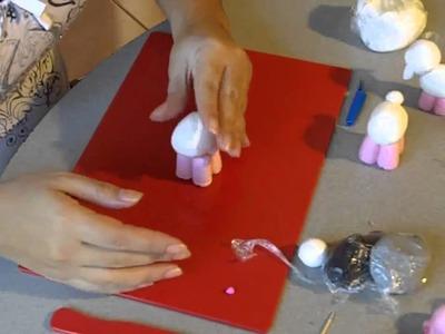 Porcelana fria paso a paso: Ovejita (1de2)