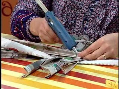Rincón de Arte  --  Cesta de Periódicos con Rosemeire Silva