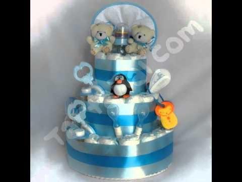 Tartañal - tarta de pañales - http:.regalosoriginalesdebebe.es.