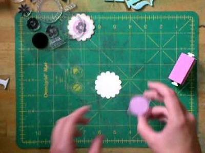 Técnica de Estarcido en una tarjeta por Tienda de Scrapbook