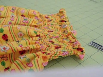 Vestido de niña # 2 Plisado con elastico - La receta de la abuelita